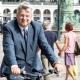 Sven Tode auf dem Fahrrad, Rathausmarkt